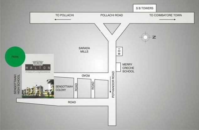 Akshaya Halton Location Plan