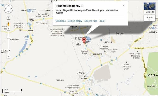 Rashmi Regency Location Plan