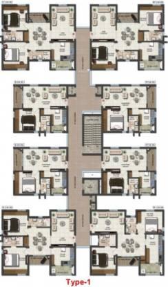 Prajay Virgin County Apartments Cluster Plan