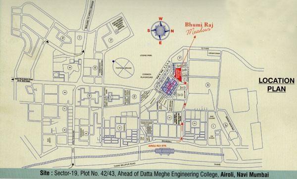 Bhumiraj Meadows Location Plan