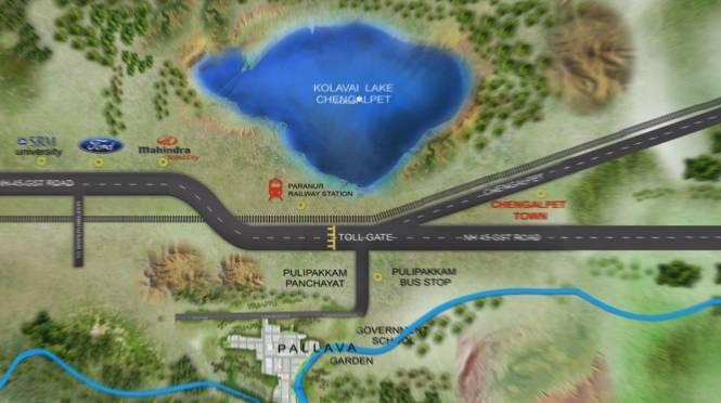 Pallavarajha Pallava Garden Location Plan