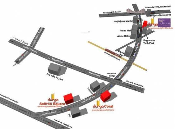 Durga Projects And Infrastructure Durga Coral Location Plan
