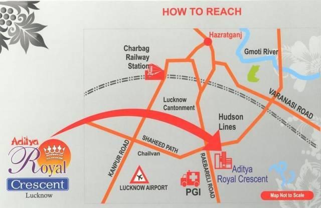 Agarwal Aditya Royal Crescent Location Plan