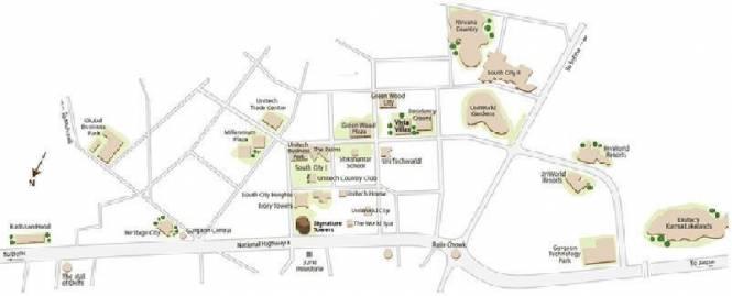Unitech Vista Villas Location Plan