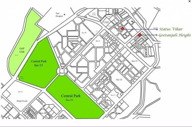 Siddharth Geetanjali Heights Location Plan