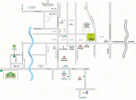 Mahagun Mahagunpuram II Location Plan