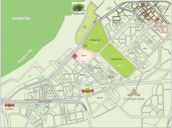 Siddharth Geetanjali Jewel Location Plan