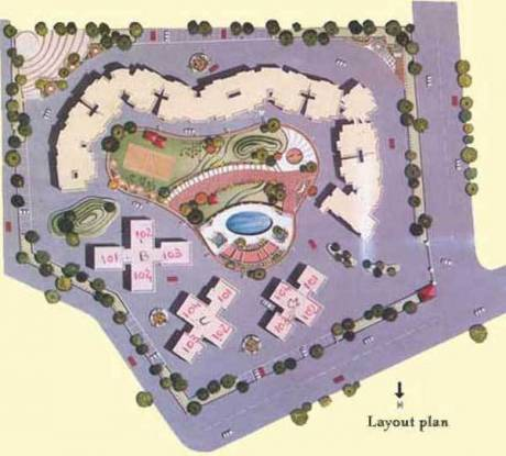 Kolte Patil Whispering Meadows Layout Plan