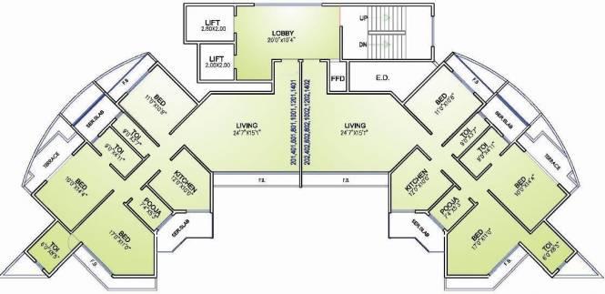 Arihant Sparsh Cluster Plan