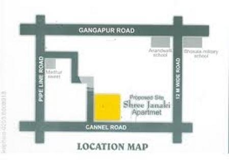 CGHS Janki Apartment Location Plan