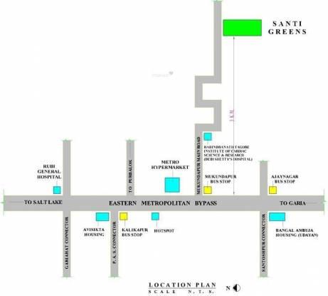 Ria Santi Greens Location Plan
