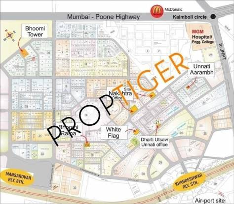 Pooja White Flag Location Plan