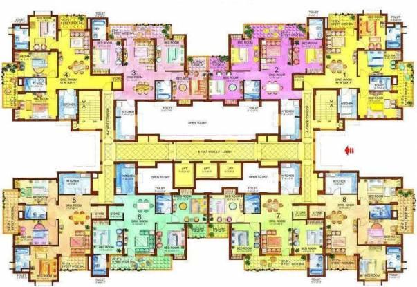 Eros WoodBury Tower Cluster Plan