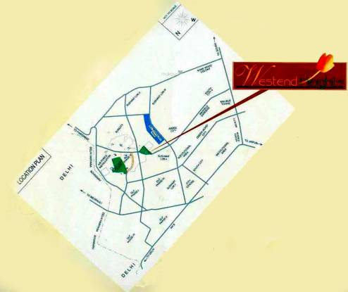DLF Westend Heights Location Plan