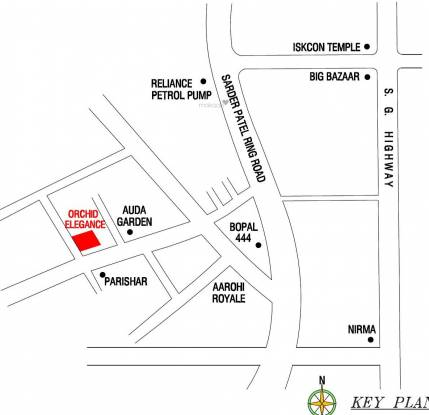Safal Orchid Elegance Location Plan