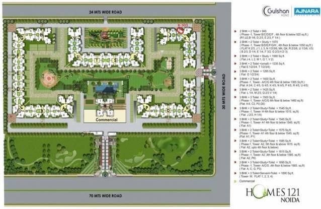 Ajnara Homes121 Master Plan