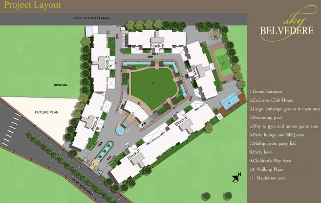 Lunkad Sky Belvedere Layout Plan