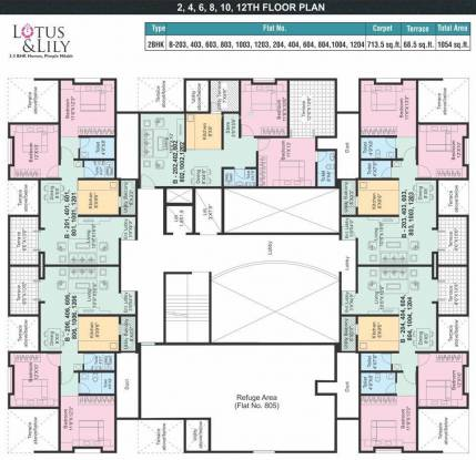 Horizon Lotus and Lily Cluster Plan
