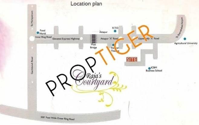 Raja Rajas Courtyard Location Plan