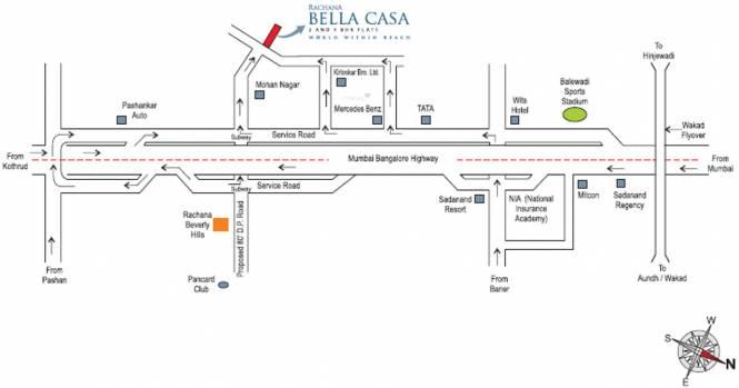 Rachana Bella Casa Location Plan