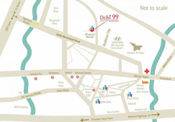 MR Delhi 99 Location Plan