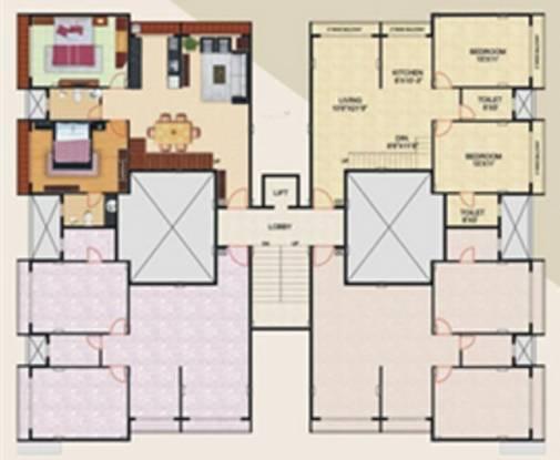 Ashapura Park West Apartments Cluster Plan