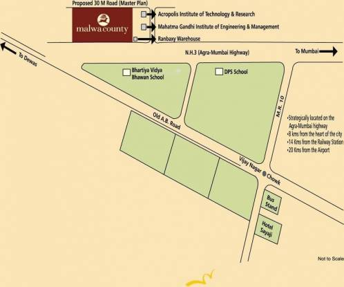 Satya Malwa Jewels Location Plan