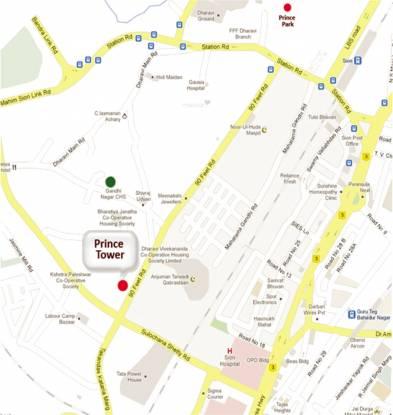 Marwin Prince Tower Location Plan
