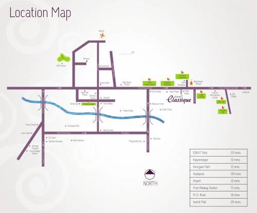Pristine Classique Location Plan