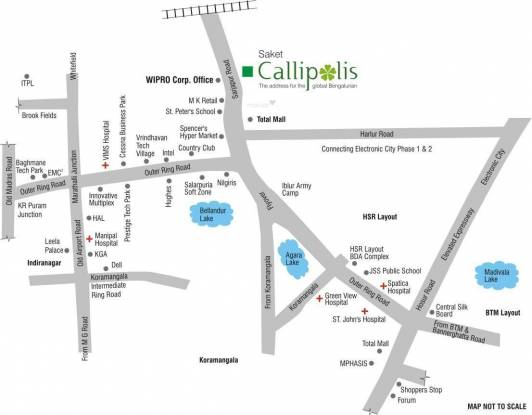 Saket Callipolis Location Plan