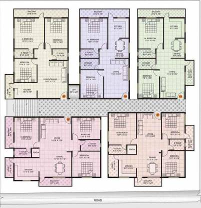 Blue Stone White Orchid Cluster Plan