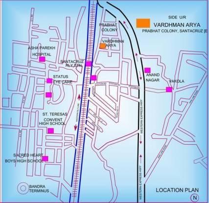 Vardhman Arya Location Plan
