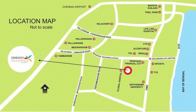 Embassy Residency Location Plan