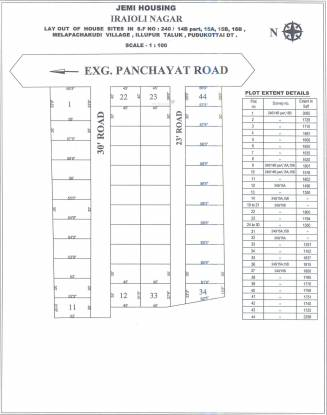 Jemi Iraiyoli Nagar Plot Site Plan