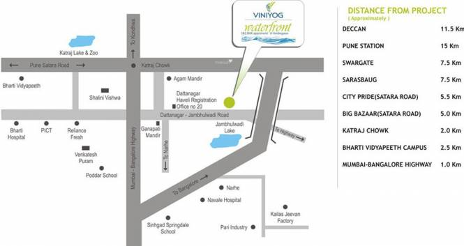 Viniyog Waterfront Location Plan