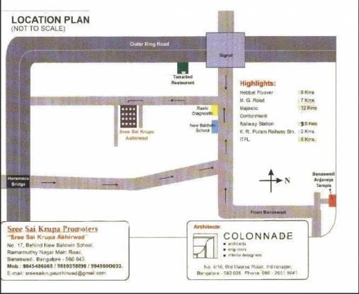 Sai Sri Sai Krupa Ashirwad Location Plan