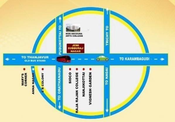 Jemi Subburaj Nagar Location Plan