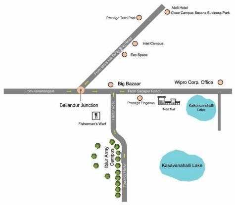 Prestige Ferns Residency Location Plan