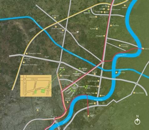 Sangath Posh Location Plan