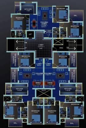Concrete Damodhar Apartment Cluster Plan