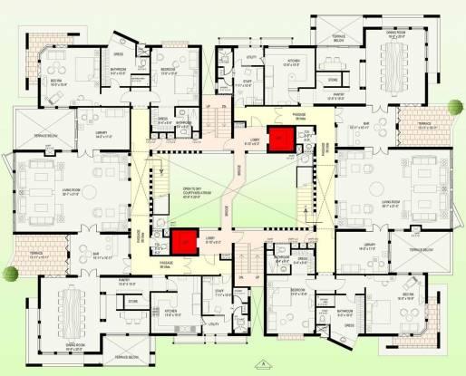 Jaypee Earth Court Cluster Plan