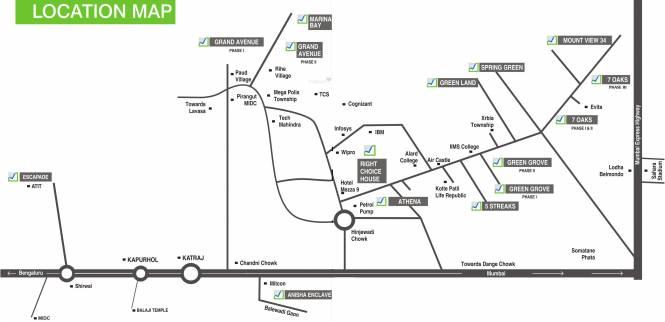 Right 7 Oaks Location Plan