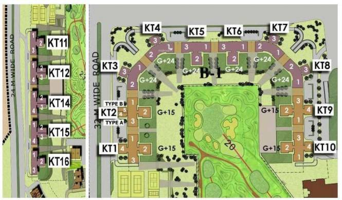 Jaypee The Kalypso Court Site Plan