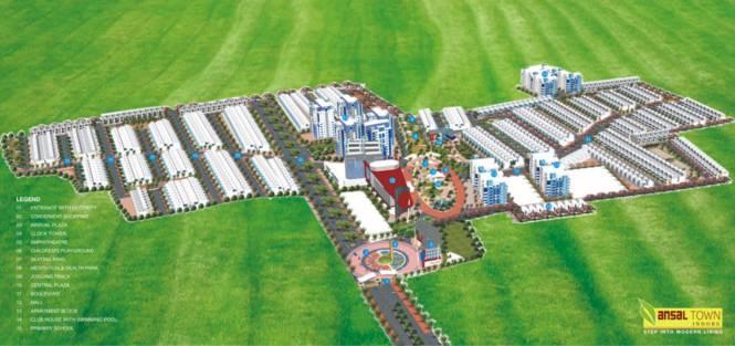 Ansal Town Apartments Layout Plan