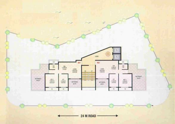 Gharat Gharat Shree Jeevdani Heights Cluster Plan