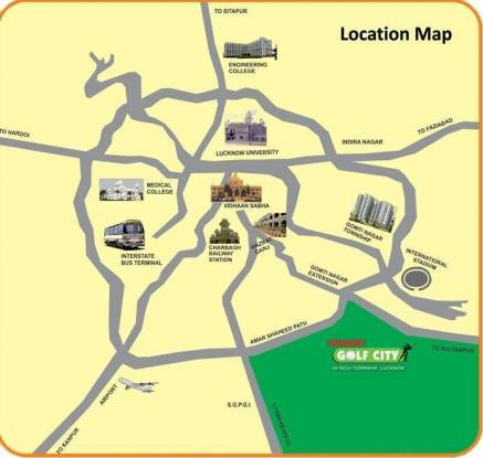 Ansal Sushant Media Enclave Location Plan