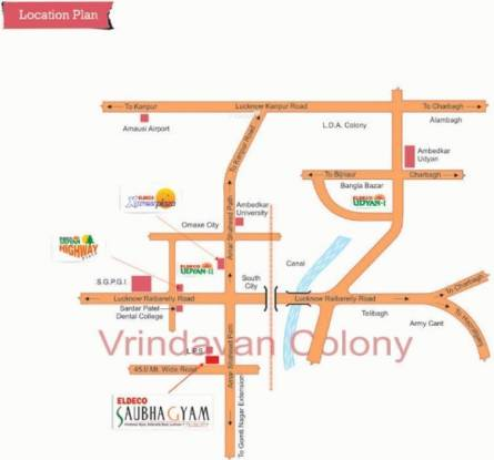 Eldeco Saubhagyam Location Plan