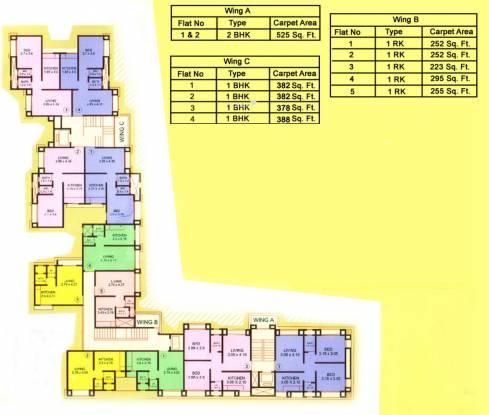 Parshva Anand Mangal Complex Cluster Plan
