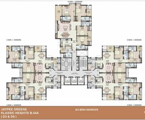 Jaypee Klassic Heights Cluster Plan