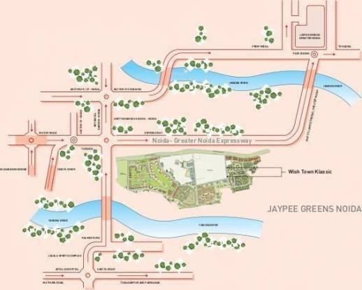 Jaypee Klassic Heights Location Plan